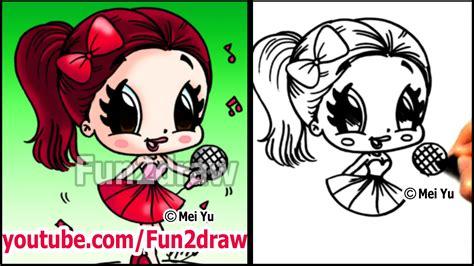 fun2draw how to draw cartoon people ariana grande how to draw people cartoon drawing