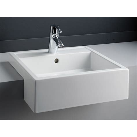 Semi Recessed Vanity Basins by Semi Recessed Vanity Basin 1 Tap From Rak