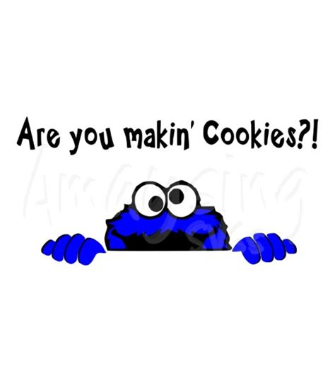 Cookie Monster Kitchen Aide Decal SVG