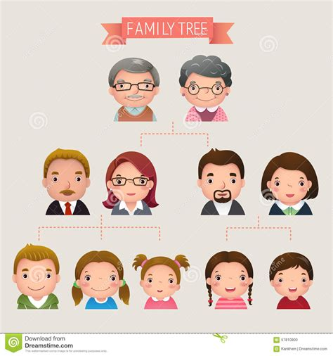 Tree Family asians clipart family tree pencil and in color asians