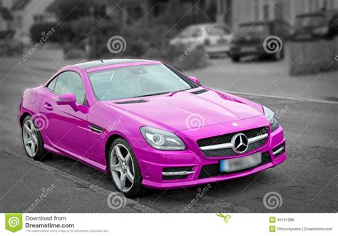 pink mercedes truck luxury pink mercedes slk200 car editorial stock photo