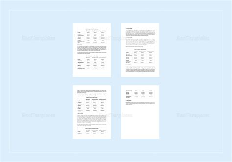 Comparative Market Analysis Template In Word Apple Pages Comparative Market Analysis Template 2