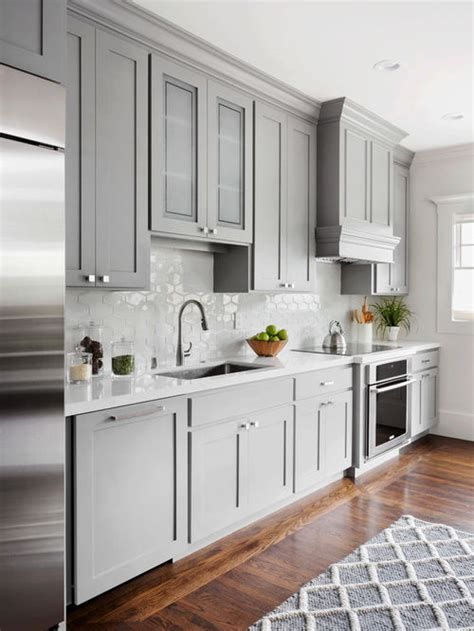 kitchen cabinets houzz kitchen with gray cabinets design ideas remodel pictures