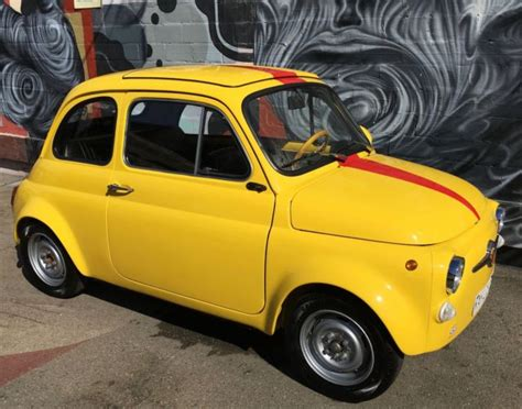 Fiat Oakland 1972 Fiat 500 0 Yellow For Sale In Oakland