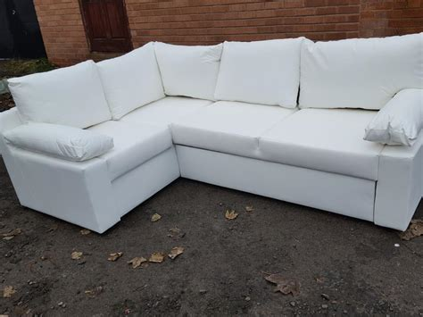 White Leather Corner Sofa Uk Brand New White Leather Corner Sofa Bed Can Deliver Sandwell Dudley
