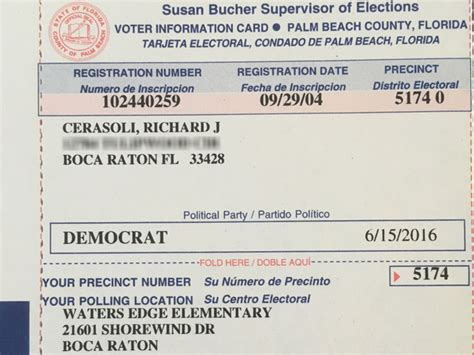 Florida Voter Registration Records Deceased Florida S Voter Registration Card Sent To Step S Address