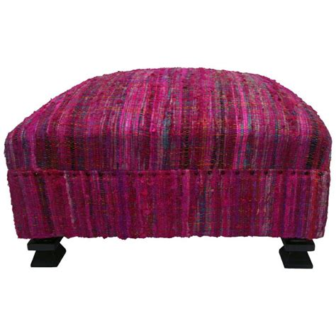 Ottoman Silk Nuloom Handmade Casual Living Sari Silk Fuschia Ottoman Pouf By Nuloom Shopping The O Jays