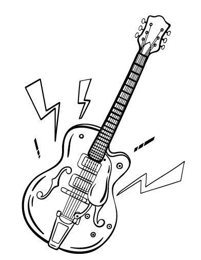 spanish guitar coloring page printable guitar coloring page free pdf download at