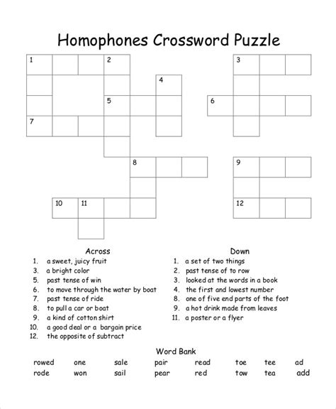 Crossword Puzzle Template Printable by Free Printable Crossword Puzzle 14 Free Pdf Documents