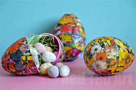 decoupage eggs easter egg craft