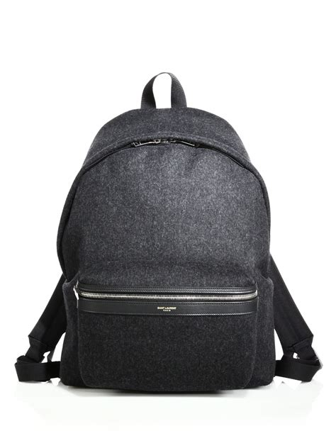 Laurent Backpack laurent flannel backpack in gray for lyst