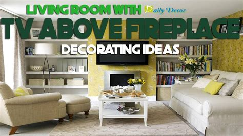 daily decor living room  tv  fireplace decorating ideas youtube
