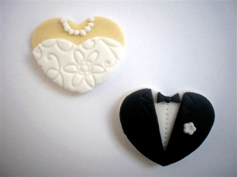 edible cupcake toppers for bridal shower wedding fondant edible cupcake toppers and groom