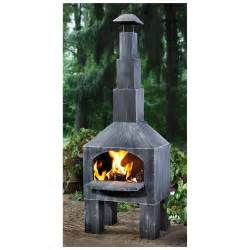 Patio Chiminea Castlecreek Outdoor Cooking Steel Chiminea 232289