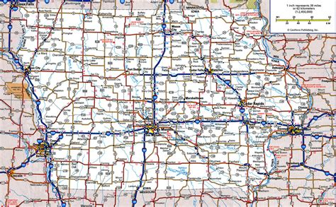 show road map road map of iowafree maps of us
