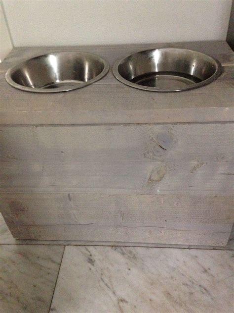 steigerhouten voerbak steigerhout drink voerbak hond deco pinterest