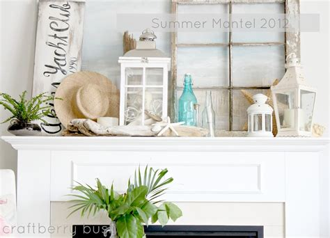 my summer mantel