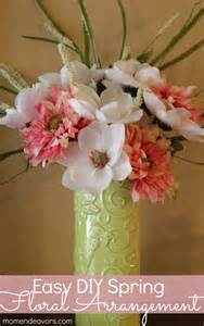 diy floral arrangements easy diy spring flower arrangement