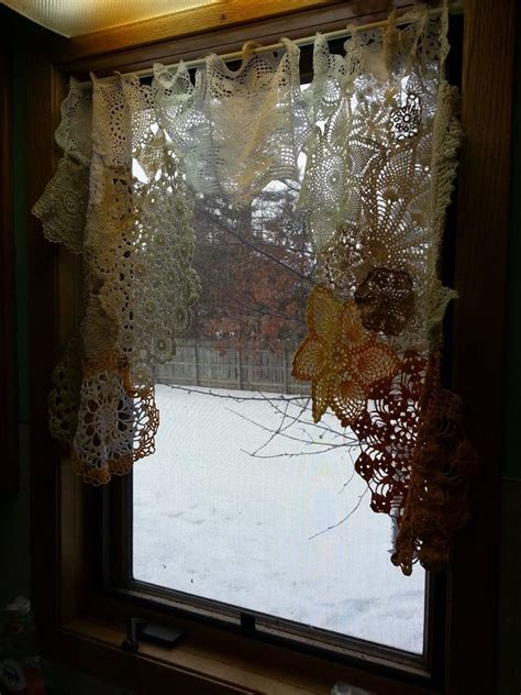 doily curtains a doily curtain above my kitchen sink things i ve made