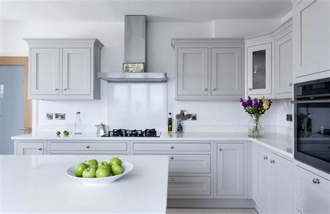 Freestanding Kitchen Island Unit by Contemporary Classic Painted Kitchen With Oak Breakfast