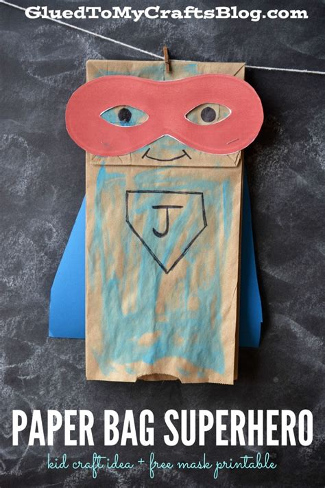 Paper Bag Arts And Crafts For - paper bag kid craft idea free mask printable