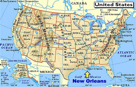 usa map states new orleans maps map new orleans