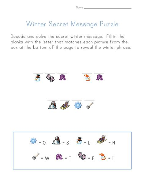s day secret message winter math worksheets kindergarten