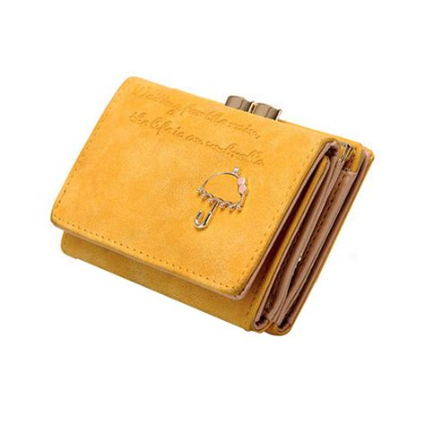 Umbrella Wallet umbrella leather wallets button clutch purse