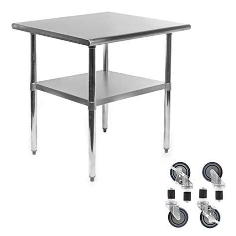 Kitchen Work Tables On Wheels Gridmann Nsf Stainless Steel Commercial Kitchen Prep Work Table W 4 Casters Wheels 30 In