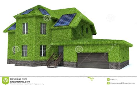 green house with solar panels stock illustration image