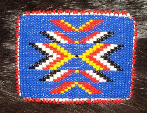 indian bead barrette american indian beadwork 3x2 quot 38