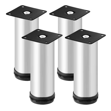 Stainless Steel Cabinet Legs by 4pcs Cabinet Legs Adjustable Stainless Steel Shelf