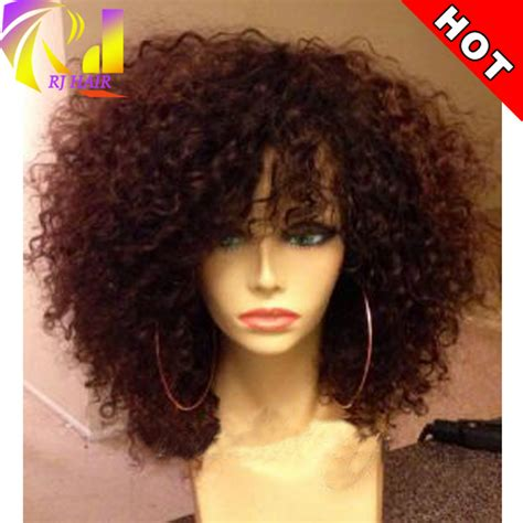 short curly human hair full lace wigs body wave indian short afro kinky curly wig virgin brazilian lace front wig