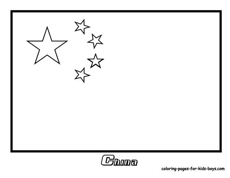 china flag coloring page jacb me