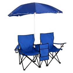 Folding chair w umbrella table cooler fold up beach camping chair