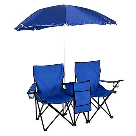 Chairs And Umbrella by Picnic Folding Chair W Umbrella Table Cooler Fold