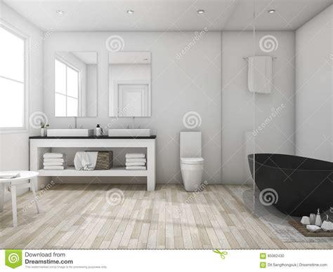 bagno minimo 3d rende il bagno minimo sottotetto con la vasca
