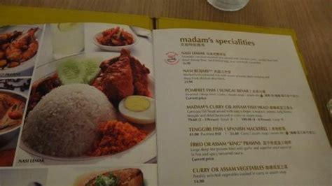 madam kwan new year menu menu picture of madam kwan s kuala lumpur tripadvisor