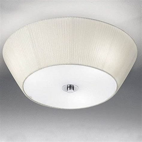 fl2134 3 fabric flush ceiling light the lighting superstore