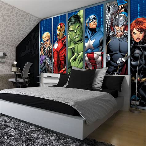 marvel bedroom decor disney avengers boys bedroom photo wallpaper wall mural