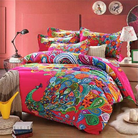 bohemian chic bedding peacock print bedding sets bohemian duvet covers queen
