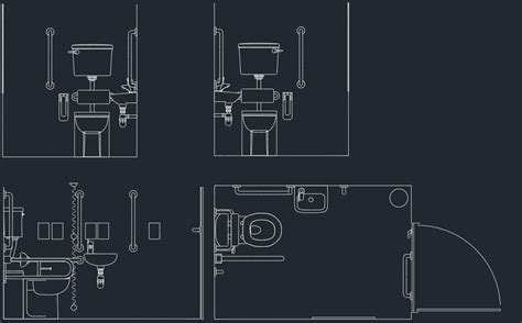 autocad ada bathroom blocks toilet drawing free cad blocks and cad drawing