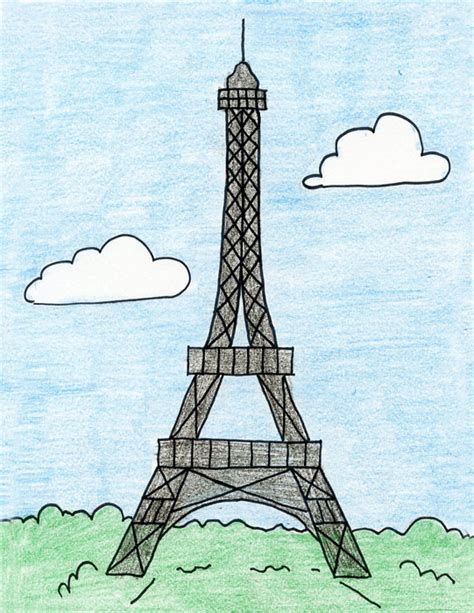Home Of The Eifell Tower How To Draw The Eiffel Tower Art Projects For Kids