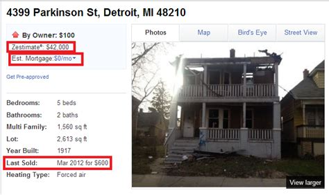 houses for sale in detroit for 1 would you buy a 5 bedrooms 100 house