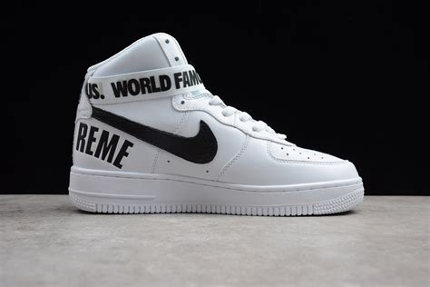 supreme  nike air force  high white   mens