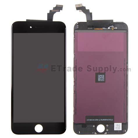 Lcd Iphone 6 Plus Replika apple iphone 6 plus lcd assembly with frame black etrade supply