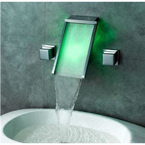 wall mount glass sink wall mount bathroom sink faucet with led glass