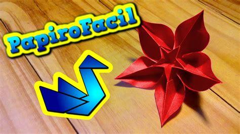 Flor De Origami - origami facil como hacer una flor estrella origami