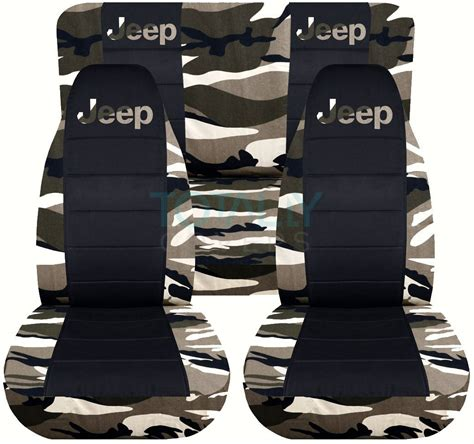 Pink Camo Seat Covers For Jeep Wrangler Jeep Wrangler Yj Tj Jk 1987 2017 Camo Black Seat Covers