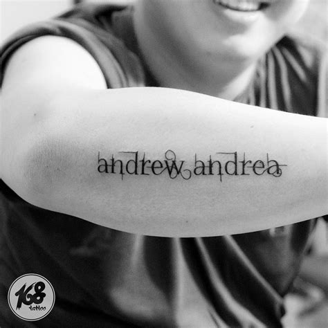 name tattoos on arm name lettering arm my artwork
